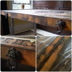 Metal Effects Patina on Table | Project by Art of Mano