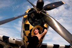 Warbird Pinup Girls Calendar photos featuring pin up girls with WWII aircraft Plane Photos, Pin Up Photos, Up Auto, P 47 Thunderbolt, Air Festival, Cafe Racer Build, Nose Art, Aviation Art, Pin Up Girls