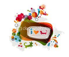 Me encantan los perros — Ilustración de stock #8200722