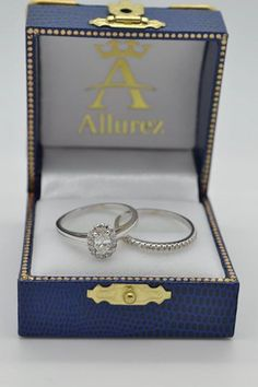 Oval Diamond Halo Engagement Bridal Ring Set 14k White Gold 1.25ct - Allurez.com