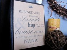 GRANDMOTHER Typography QUOTE Perfect for Mothers Day!