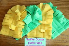 How to make a swiffer duster refill from fleece.