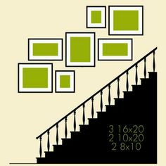 Stair picture placement idea
