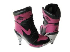 Jordan High Heel Woman's Boots ,features full-grain leather upper and full-rubber sole and style design! Jordan heel shoes combined both fashion and comforta. Jordan Heels, Cheap Jordan Shoes, Air Jordan Shoes, Nike High Heels, High Heel Boots, Womens High Heels, Shoe Boots, Women's Boots, Rosa High Heels