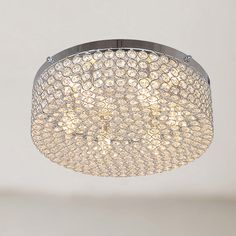 Berta 6-light Chrome Flush Mount Chandelier with Clear Crystals - Overstock Shopping - Big Discounts on Otis Designs Flush Mounts
