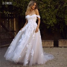 Lace Beach Wedding Dresses 2019 Off the Shoulder Appliques A Line Boho Bride Dress Princess Wedding Gown Robe De Mariee Making A Wedding Dress, White Lace Wedding Dress, Western Wedding Dresses, Backless Wedding, Princess Wedding Dresses, Perfect Wedding Dress, Bridal Wedding Dresses, Wedding Dress Styles, Dress Lace