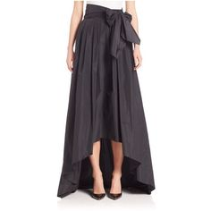 Escada HiLo Taffeta Ball Gown Skirt ($660) ❤ liked on Polyvore featuring skirts, maxi, multicolor, bow skirt, long colorful maxi skirts, taffeta skirt, colorful maxi skirts and high low maxi skirt