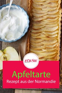 İdeen Easy Cake Recipe for french apple tart, French Apple Tart, Fruit Tart, Apple Tree, Easy Cake Recipes, Chocolate Cake, Nom Nom, Icing, Desserts, Food