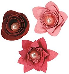 Sizzix Bigz - Fustelle a forma di fiori, n. 3, colore: Nero