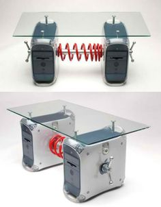 REPURPOSED TECH: old hard drives DIY: turn them into a coffee table!