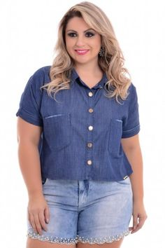 Cropped Jeans Plus Size