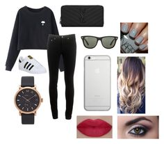 """asdfghjkl"" by kimberly-villanueva ❤ liked on Polyvore featuring Chicnova Fashion, rag & bone, adidas, Yves Saint Laurent, Ray-Ban, Native Union, Marc Jacobs and She's So"