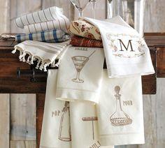 Monogrammable Bar Towel, Set of 2 | Pottery Barn