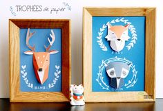 Make It: Framed 3D Paper Taxidermy Art -- With Free Download!
