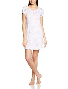 Huber - Da. Sleepshirt kz.A., Camicia da notte da donna, multicolore (mehrfarbig  (mille fleur 6772)), Taglia produttore: 44 Huber http://ebay.to/1ME7pvn
