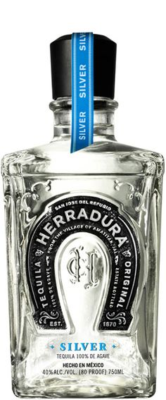 Blanco Silver Tequila 361926001 for 45 days to impart a hint of colour, Herradura Blanco is made with blue agave.A tangy and citrus noted tequila with a hint of oak. Enjoy this tequila neat, whether as a shot or sipped Tequila Bottles, Alcohol Bottles, Vodka Bottle, Perfume Bottles, Agaves, Bar Drinks, Alcoholic Drinks, Cocktails, Yummy Drinks