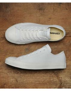 Converse All Star Ox Leather Monochrome | Scotts Menswear