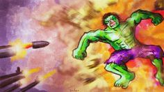 A depiction of the Incredible Hulk. Especially wanted to focus on the VFX and colors. Made in Photoshop Incredible Hulk, Over The Years, My Drawings, Photoshop, The Incredibles, Colors, Green, Painting, Art