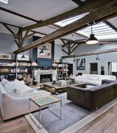 Love the beams and color