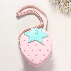 Cute strawberry PU leather shoulder bag - Thumbnail 1