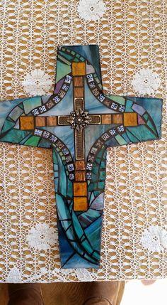 Mosaic Cross by mosaiccrossesandurns on Etsy