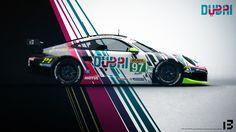 Porsche 911 RSR 'DUBAI Tourism' Livery Design #iampixelthirteen #pixelthirteen #livery #liverydesign #porsche #motorsports #dubai