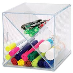 Tips on How to Organize Your Work Desk at Home - Like this cool pen storage unit