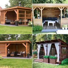 Gazebo, Pergola, Refuge, Dream Garden, Bbq, Shed, Outdoor Structures, Backyard Ideas, Garden Ideas