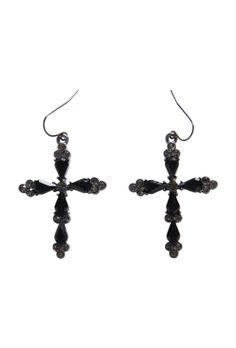 Max - Jewel Cross Earring $19.00