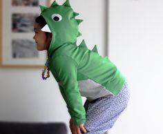Enfants crocodile dinosaure hoodie Sweat-shirt. par bymamma190