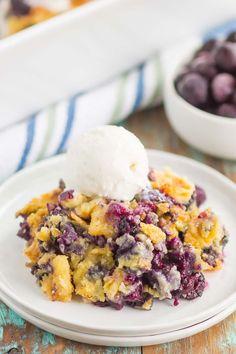 Easy Blueberry Dump Cake
