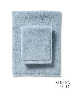 Sonoma Bath Collection - Washcloth - Coastal Blue - Home Decor & Furniture - Serena & Lily Luxury Mobile Homes, Nautical Bathroom Decor, New Toilet, Spa Towels, Bathroom Collections, Bath Sheets, Luxury Bath, Dobby, Bathroom Interior Design