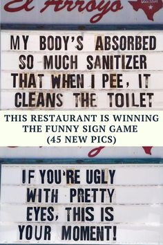 """A restaurant in Texas has made itself a household name by putting up hilarious signs again and again, day after day, year after year. The Austin-based establishment named El Arroyo has had its sign board since its opening in 1975, and 45 years later, it's still out there cracking everyone up. Paige Winstanley, co-owner of the restaurant, says about their signs: """"In these times when much is unknown, El Arroyo finds comfort in bringing smiles and laughter to our community on a daily basis.""""…"""