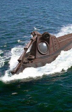 3d Sidewalk Art, Nautilus Submarine, Peter Max Art, Hms Hood, Sci Fi Models, Leagues Under The Sea, Spaceship Design, Vintage Disneyland, Sea Monsters