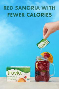 Make summertime a little sweeter with Red Sangria made with calorie-free Truvia Natural Sweetener. Click now to get the recipe for this, and other refreshing summer drinks. Keto Drink, Diet Drinks, Alcoholic Drinks, Beverages, Sangria Recipes, Drinks Alcohol Recipes, Cocktail Recipes, Truvia Sweetener, Red Sangria