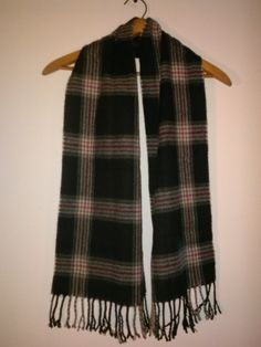 Black Plaid Scarf by LMTDInteriorConsults on Etsy, $14.99