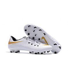 buy popular fc9e3 b4bf2 Nike Hypervenom Phelon III FG PEVNÝ POVRCH bílá zlato černá muži kopačky.  Flag FootballMens ...