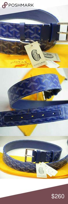 Goyard Belt Blue 30-36 Brand New Text 404_602_2558 for offers Goyard Accessories Belts