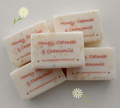 Honey, Oatmeal and Chamomile soap, Honey and Oatmeal soap, Handmade soap, Honey, soap bars, Soaps for sensitive skin, Natural soap, by SoaperblyHandmade on Etsy