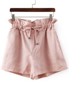 Shorts mit Tunnelzug-rosa