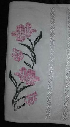 This Pin was discovered by neş Cross Stitch Bookmarks, Cross Stitch Borders, Cross Stitch Rose, Cross Stitch Flowers, Cross Stitch Designs, Cross Stitching, Cross Stitch Patterns, Baby Embroidery, Hardanger Embroidery