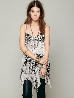 Free People Marble Print Silk Tank, 328.00
