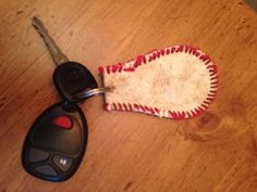 SALE...Baseball+Keychain...leather+by+ShabbyWorks+on+Etsy,+$13.99