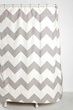 Zigzag Shower Curtain- perfect for our grey, yellow, white, and light blue bathroom :)