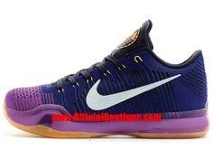 Chaussure Nike Baskets Pas Cher Pour Homme Nike Kobe X 10 Elite Low Noir  Violet 4bea55d4eae3