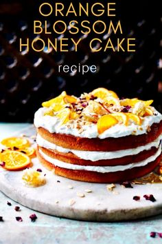 With three layers, a ricotta filling and honeycomb on top.