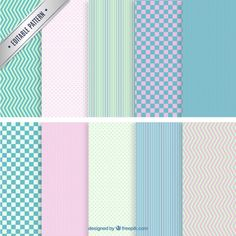 Colorful geometric patterns Free Vector