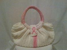 ... Crochet Designs Pink Ribbon for Breast Cancer Medium Classy Handbag www.etsy.com