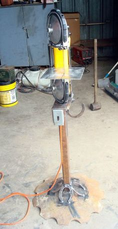 Miller - Welding Projects - Idea Gallery - Band Saw. I love how they did the bottom! Maybe an idea for the base of my hoof stand...