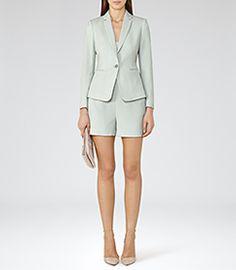 Womens Mint Single-breasted Blazer - Reiss Greece Jacket